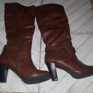 Style & Co Brown Knee High Boots